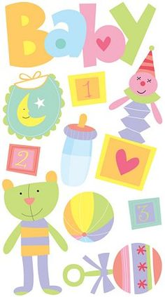 Glitter Fun Baby Stickers