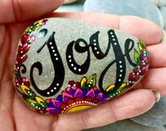 Holding On To Hope /Painted Rock / Sandi  Pike by LoveFromCapeCod