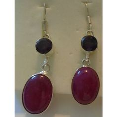 Mountain Jade with purple stones, hooks stamped 925 Listing in the Jade,Earrings,Fine Jewelry,Jewelry & Watches Category on eBid United States | 150164177