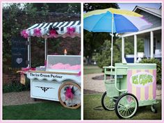 Wedding ice cream stands! Makes me think of the hot dog stand my parents' friends Joe and Terri had at theirs back in the day!