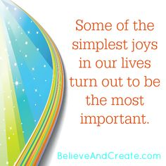Simple Joys Can Be The Most Important Joy Visit Our Blog Inspirational