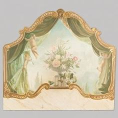 Photo of French Trompe l'Oeil Wooden Panel or Headboard Miniature Furniture, Dollhouse Furniture, Vintage Illustration, Victorian Valentines, Decoupage, Faux Painting, Vintage Decor, Vintage Ideas, Painted Furniture