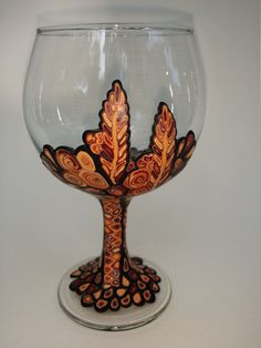 Polymer Clay Wine Glass OOAK by SwabylreCafe on Etsy