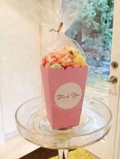 Bridal shower favor - popcorn! Can be used for other types of parties as well.