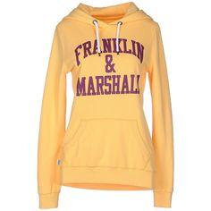 Franklin & Marshall Sweatshirt ($99) ❤ liked on Polyvore featuring tops, hoodies, sweatshirts, yellow, sweat tops, cotton sweat shirts, sweatshirts hoodies, yellow top and yellow sweatshirt