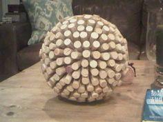 cork ball {cute tabletop decor}