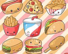 comida rápida imágenes prediseñadas  clipart por LittleLiaGraphic