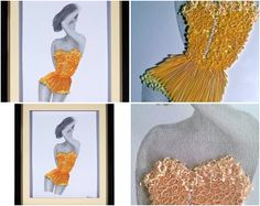 """""""Paper Lace"""".... Original Pencil Drawn and Quilled 3D Artwork by QuillArtuk. www.quillart.etsy.com #giftforher"""