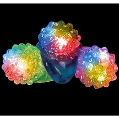 Hours of Flashing Fun! PartyLovers LED Light up Jelly Bumpy Rings - 24 Pk Assorted Colors PartyLovers®