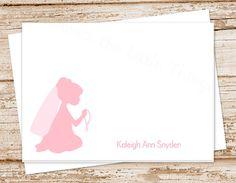 personalized stationery FIRST HOLY COMMUNION by CelebrateLilThings