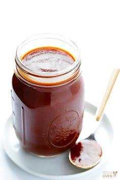 Homemade BBQ Sauce Recipe | gimmesomeoven.com #bbq #glutenfree #vegan
