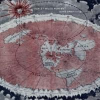 Flat Earth Map created by Wilbur Glenn Voliva of Zion, Illinois.