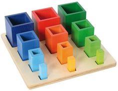 Bartl, Sortierspiel Lernspiel aus Holz ab 3 Jahren, Farbige Säulen ab 3 Jahren | 4739 / EAN:4711155460415