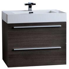 "26.75"" Single Bathroom Vanity Set in Grey Oak TN-T690-GO"