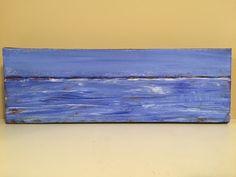 """Blue"" acrylic 4""x12"" by Carla McGillivray- sold"