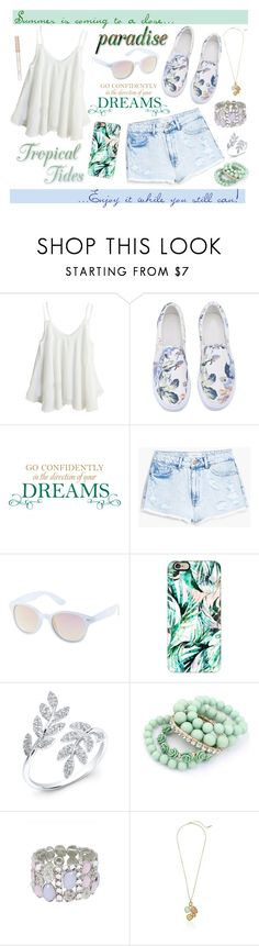 """""""Last Leg of Summer {Sapphire}"""" by flower-crown-gurls ❤ liked on Polyvore featuring WALL, MANGO, Charlotte Russe, Casetify, Anne Sisteron, T Tahari, Paul & Joe, Summer and flowercrowngurlsapphire"""