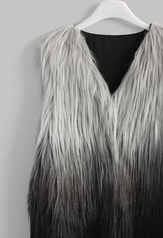 ef1b95fe9db Chicwish Super Star Dip Dyed Faux Fur Vest ( 48) ❤ liked on ...