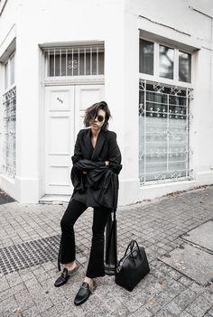 skinny flare jeans street style inspo black fashion blogger minimal Nobody  Ellery transseasonal (13 of 181ef8c30083b
