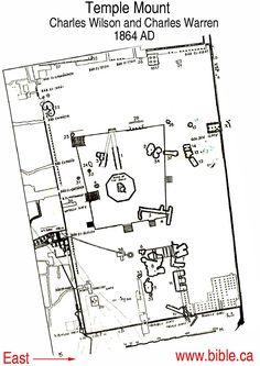 Temple Mount 1884 the famous Wilson/Warren survey of king Solomon's Temple Mount