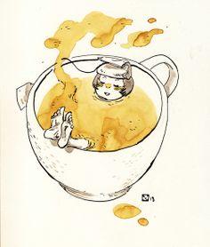 tea timesuppasweet illustration byXulia Vicente