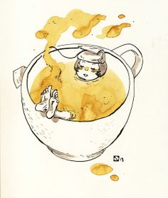 tea time suppasweet illustration by Xulia Vicente