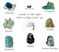 Crystals And Gemstones, Stones And Crystals, Psychic Development, Rocks And Minerals, Letting Go, Let It Be, Cheat Sheets, Witch, Spirituality