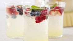 A festive red and blue lemonade perfect for your summer barbecue. via Baked Bree