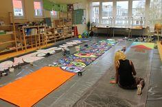 Arbeiten für den Chemniter Friedenstag 2015, Workshop in der weiterführenden Montessori-Schule Chemnitz