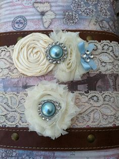 ivory wedding garter / bridal  garter/  lace