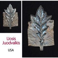 """""""Leaf Brooch"""" - Uosis Juodvalkis"""