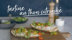 Tartine au thon citronné Quebec, Baked Potato, Sandwiches, Lunch Box, Potatoes, Snacks, Baking, Ethnic Recipes, Plaque