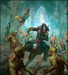Warhammer Art, Warhammer Fantasy, Warhammer 40000, Eldar 40k, Dark Eldar, Skyrim Mods, Fantasy Miniatures, The Grim, Geek Art