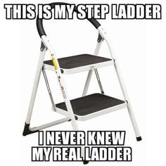 Where would be my real ladder? lol this made me laugh much and I stopped, my puson aches hahaha Lol, Haha Funny, Funny Stuff, Funny Shit, Funny Things, Funny Typos, Funny Jokes, Random Stuff, Nerd Jokes