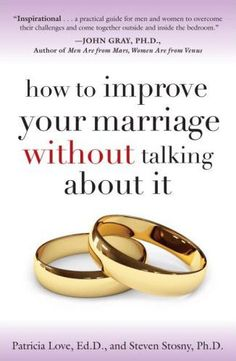 "Men are right. The ""relationship talk"" does not help. Dr. Patricia Love's and Dr. Steven Stosny's How to Improve Your Marriage Without Talking About It reveals the stunning truth about marital happine"