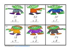 Zombie War 2 Digit by 1 Digit Multiplication $