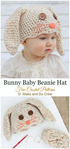 85bb65c5f0c DIY Crochet Beanie Hat Free Patterns Baby Winter Hat