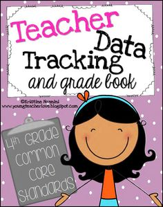 The ultimate Teacher Data Tracking and Grade Book! Common core checklists, planning pages, and more! Over 800 pages to track the 4th Grade Common Core Standards! Perfect for grading, staying organized, data meetings, and more! $