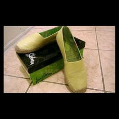 Sam Edelman flat espadrille Lemon leather colored. Worn only once. Shoe is like new w/box included ***PRICE IS FIRM*** Sam Edelman Shoes Espadrilles