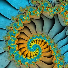 A Spiral Fractal is a Fibonacci Sequence -  There are many of them! Look closer to the finest details . . .