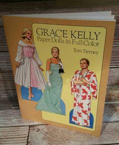 Grace Kelly Paper Dolls in Full Color Uncut by VintageJunqueAmy
