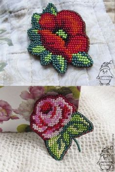 An embroidery on an outline from beads Rose n beeds Bead Embroidery Jewelry, Beaded Embroidery, Hand Embroidery, Embroidery Designs, Beading Projects, Beading Tutorials, Beading Patterns, Bead Crafts, Jewelry Crafts