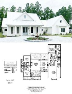 Ranch House Plans, New House Plans, Dream House Plans, House Floor Plans, Dream Home Design, Home Design Plans, My Dream Home, House Design, Dream Homes