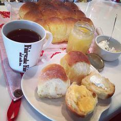 ちぎりパン 檸檬カスタード 水切りヨーグルト 朝ごぱん