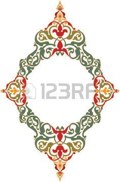 Ornamental stlichen Design border frame farbig Stockfoto