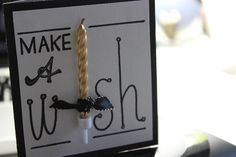 DIY birthday card - make a wish! - you can even use scrap paper or washi tape for the candle