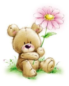 Flowers art for children pictures ideas for 2019 Tatty Teddy, Baby Animal Drawings, Cute Drawings, Baby Illustration, Illustrations, Drawing For Kids, Art For Kids, Teddy Pictures, Paintings