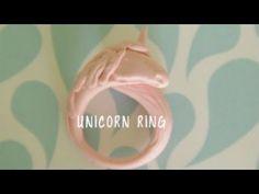 Polymer Clay Unicorn Ring - YouTube