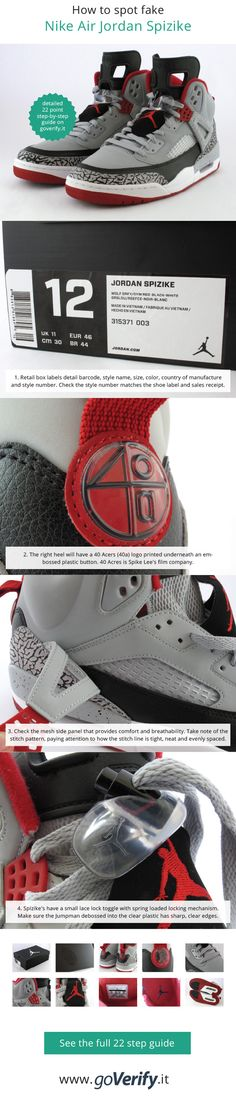 brand new f91ff ae944 How to spot fake Nike Air Jordan Spizike s, go to www.goverify.it