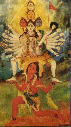 Panchamukha Shiva (or Cosmic Shiva) Also known as Swacchanda Bhairav