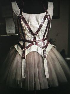 Steampunk Corset Bondage Dress Gothic Dress Bohemian by YesADress